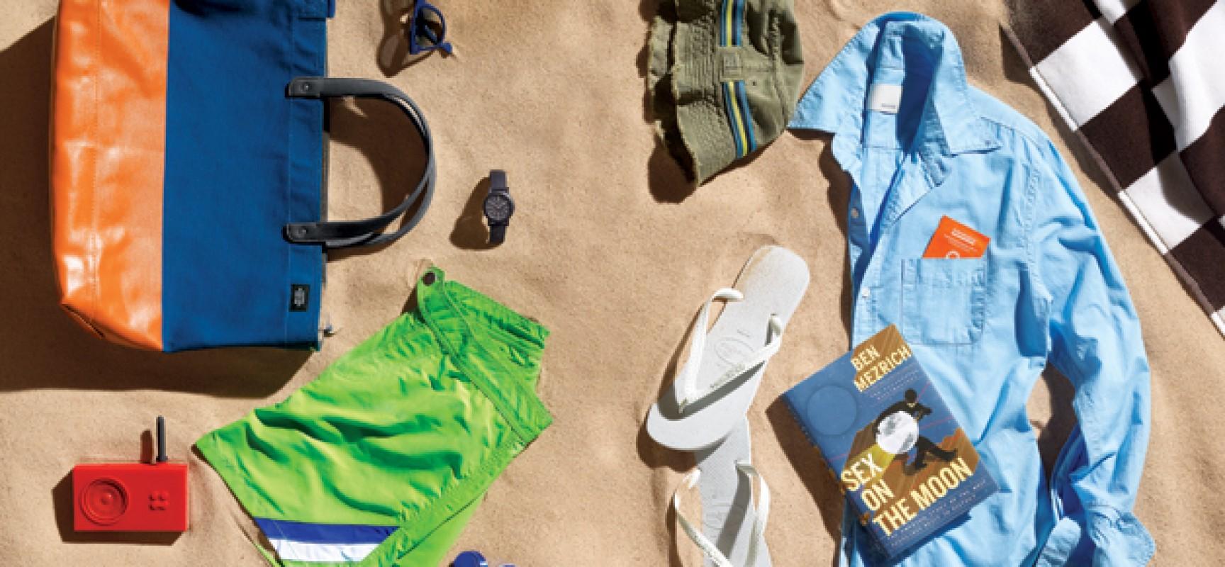 A man's beach bag – carry the essentials!