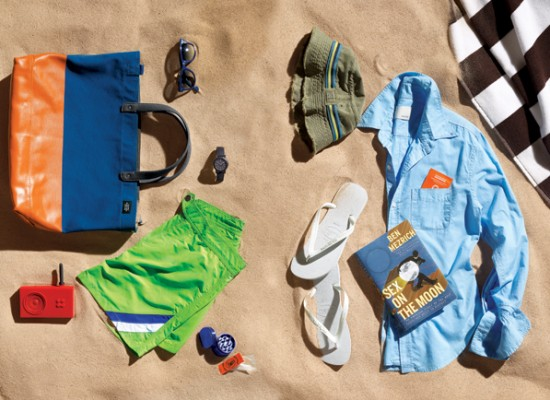 A man's beach bag – carry the essentials!